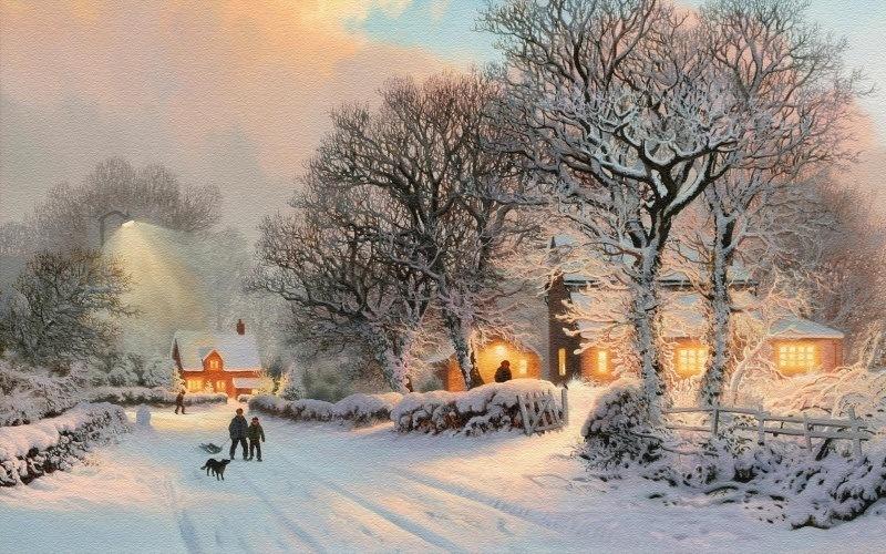 Carte neige hiver wallpaper:: Fond Ecran HD