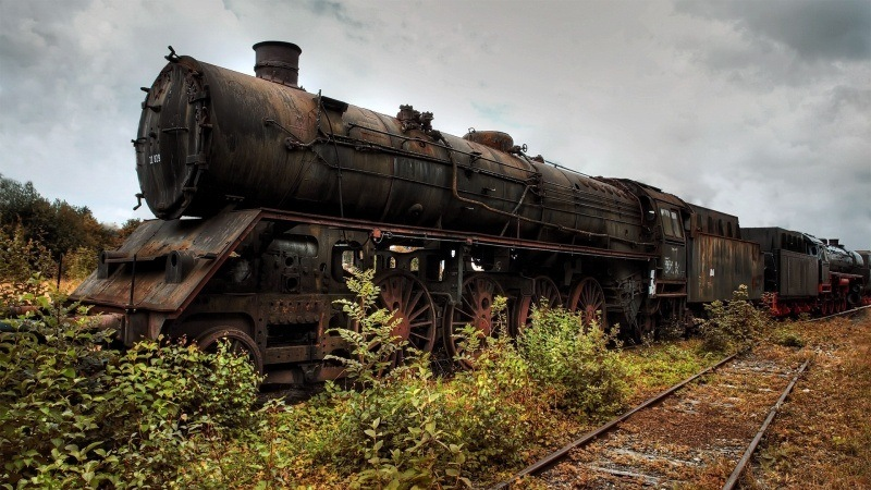 Locomotive vapeur abandon