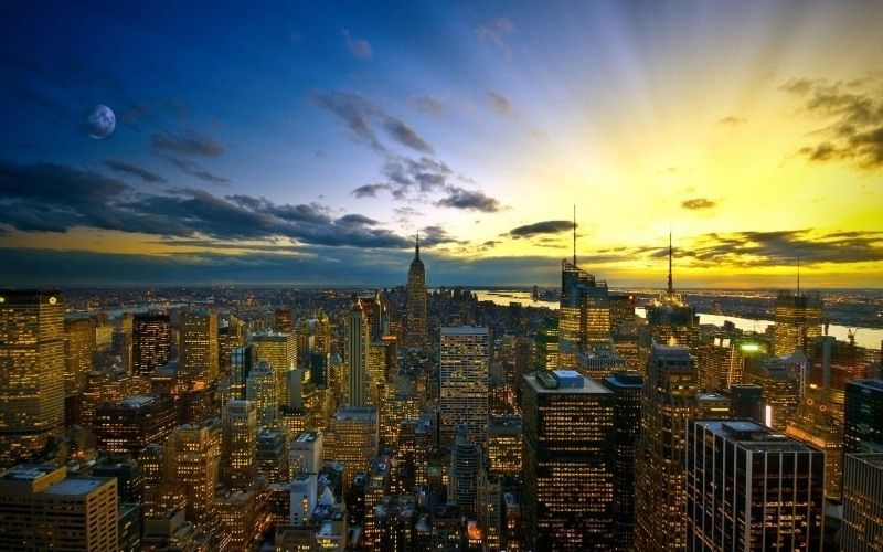 New York In The Evening Fond Ecran Hd