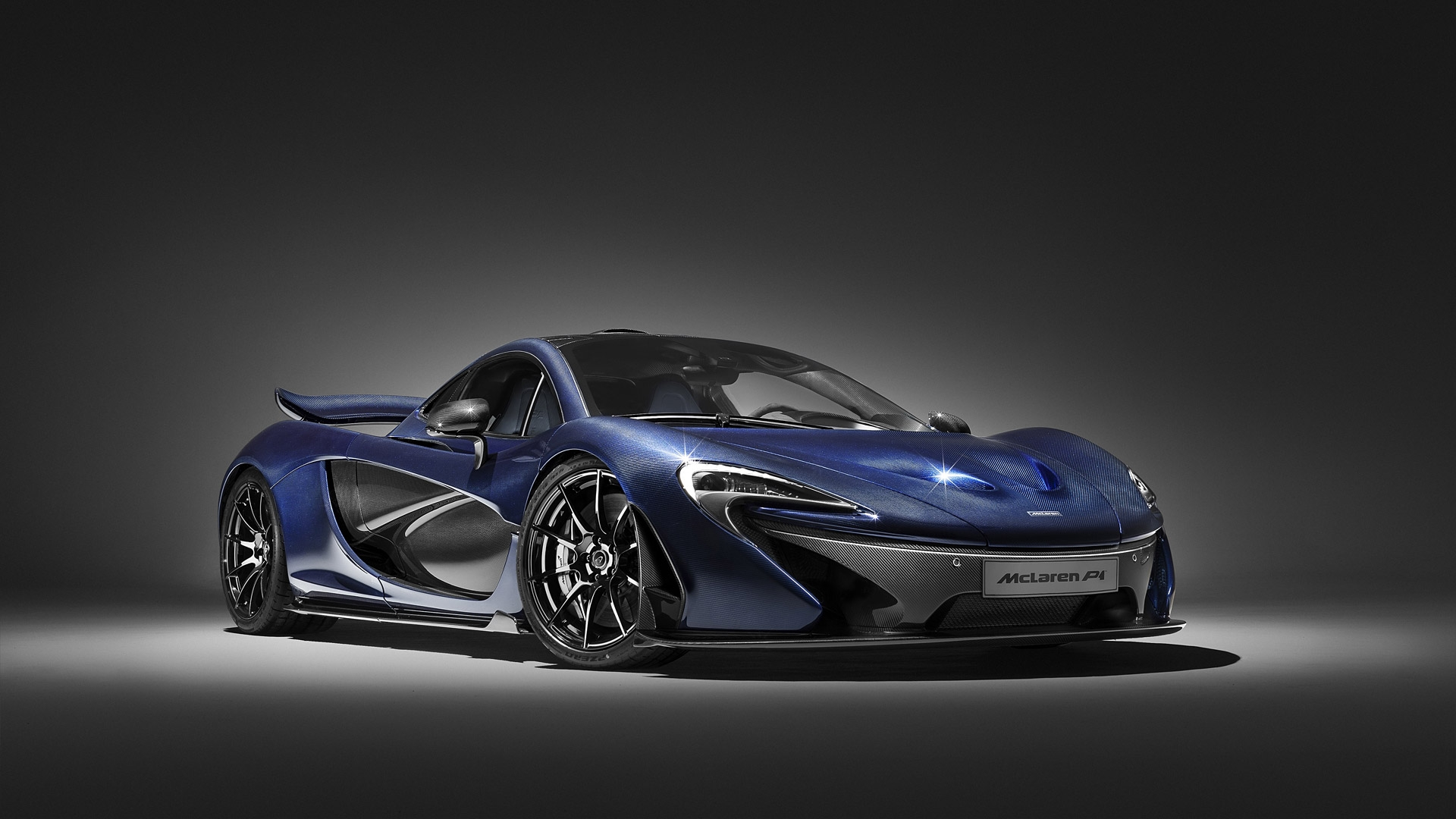 Mclaren P1 Bleu Photo Fond Ecran Hd