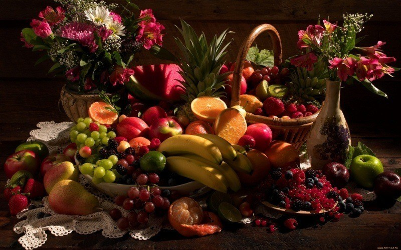 photo nature morte art fruits fleurs