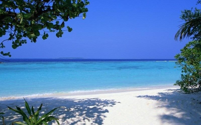 Plage Vacances Sable Ciel Bleu Fond Ecran Hd