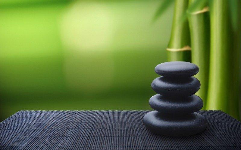 Photo Bambou Zen Galet Wallpaper Fond Ecran Hd