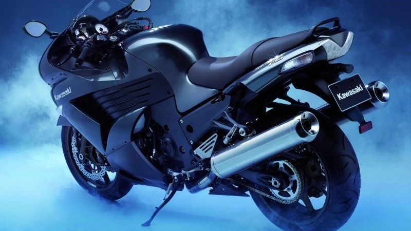 kawasaki ninja black moto photo