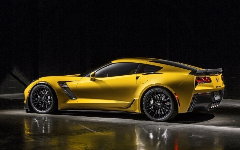 Chevrolet Corvette Z06 jaune wallpaper