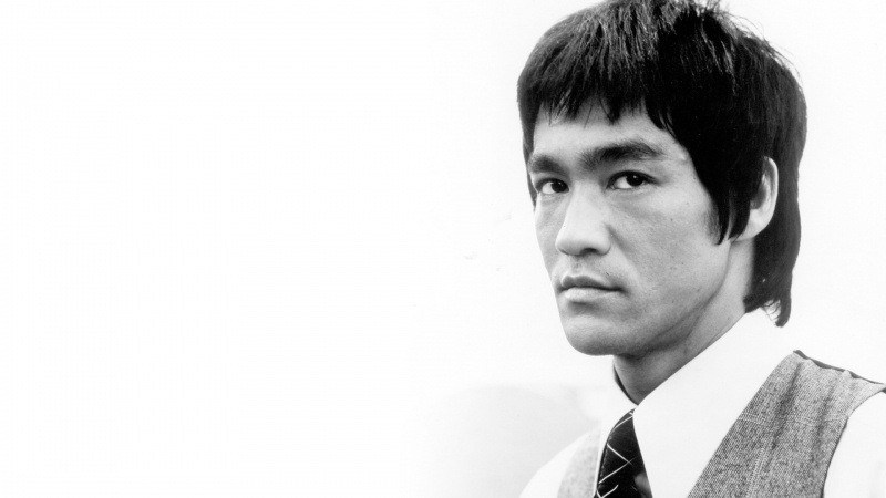 Bruce Lee noir et blanc photo