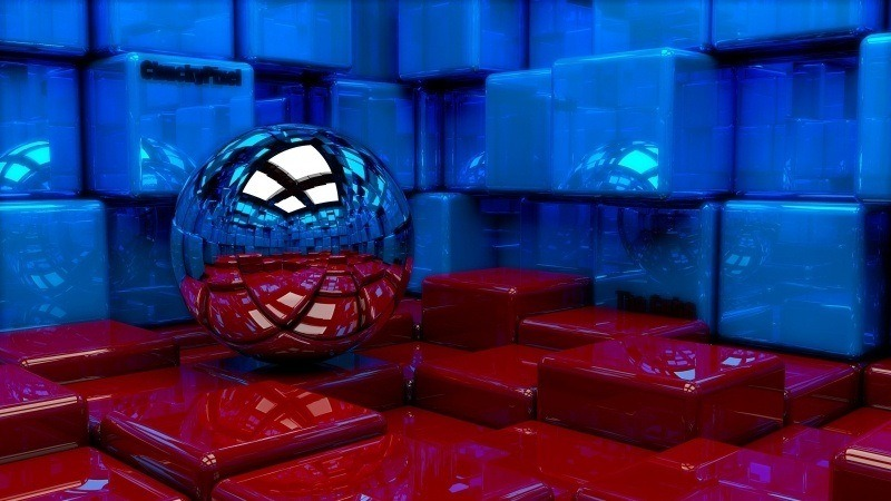 3D bille boule sphere cube art