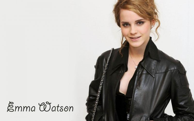 Emma Watson  black coat photo