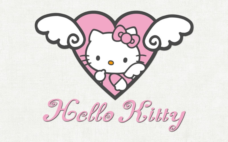 Heart pink  hello kitty