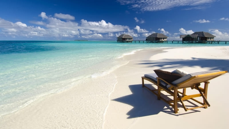 Maldives plage transat wallpaper photo