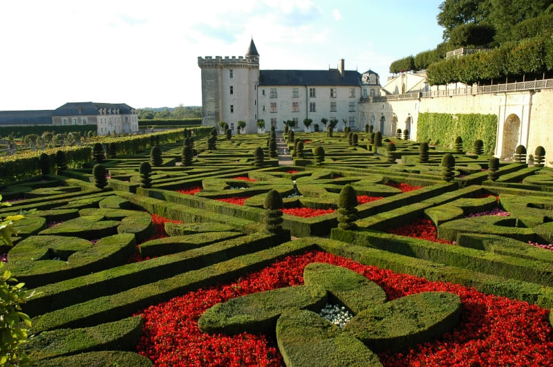 photo chateau et jardin de Villandry