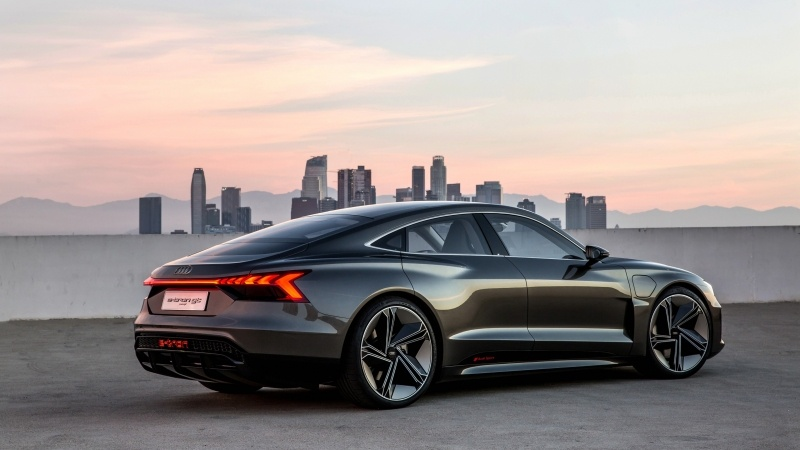 Audi E Tron Gt Noir Photo Fond Cran Fond Ecran Hd
