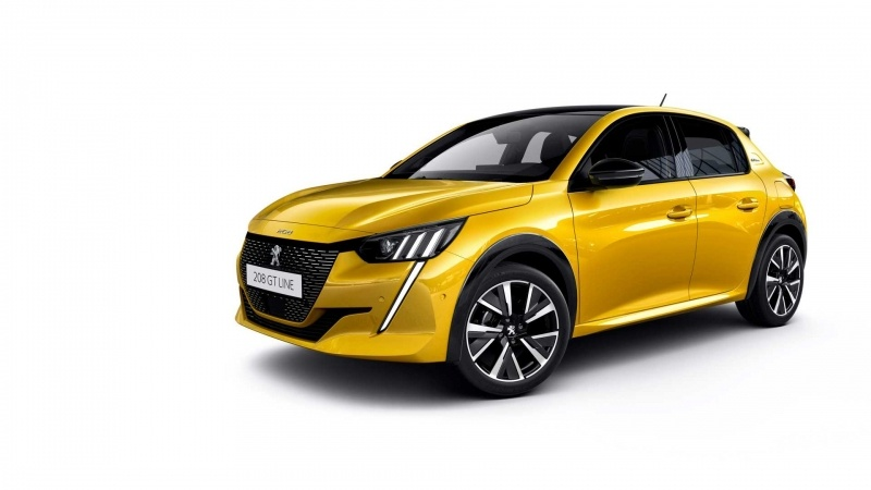 photo Peugeot 208 GT Line jaune 2019 automobile