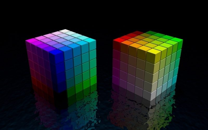 Cubes 3D colorés wallpaper