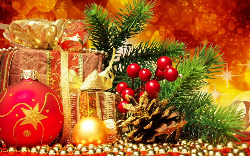 Noel Christmas Decoration Cadeaux Fond Ecran Fond Ecran Hd