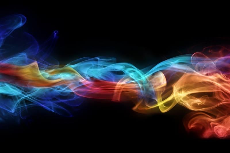 Abstrait Fumée Multicolore Fond Ecran Hd