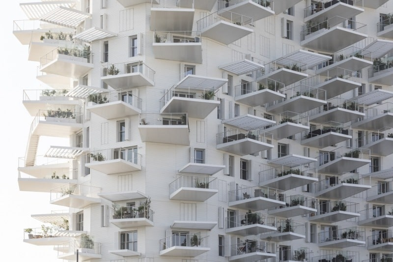 Architecture future moderne immeuble blanc photo