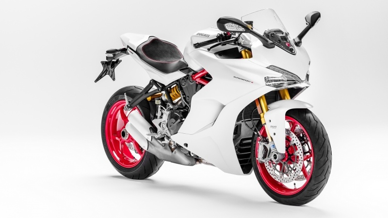 Moto Ducati SuperSport blanche